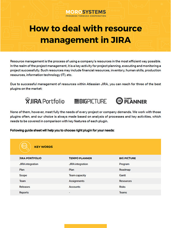 How to deal with resource management in JIRA